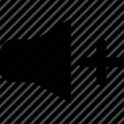 increase, volume icon