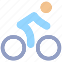 bicycle, cycle, cycling, exercise, fitness, man, ride, transport icon