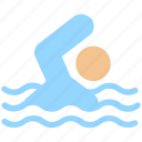 man, person, pool, service, swimming, swimming pool, water icon