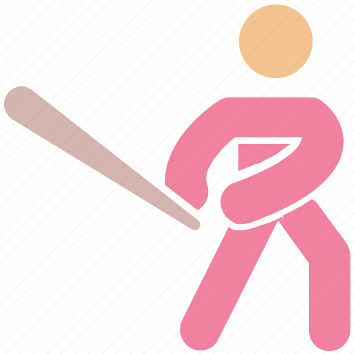 baseball, baseball bat, baseball player, bat, glove, sport, sports, sportsman icon