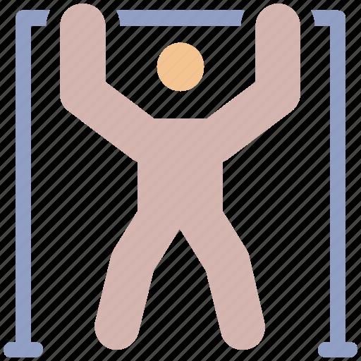 athlete, bodybuilder, exercise, fitness, gym, man, person icon