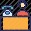 consultant, customer care, customer support, helpline, male operator icon