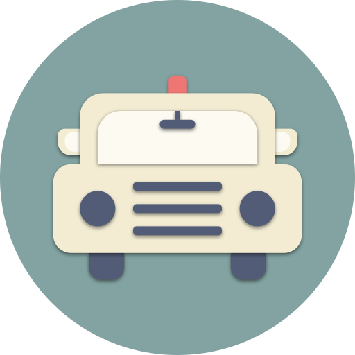 car, drive, police, road, transport, travel, vehicle icon