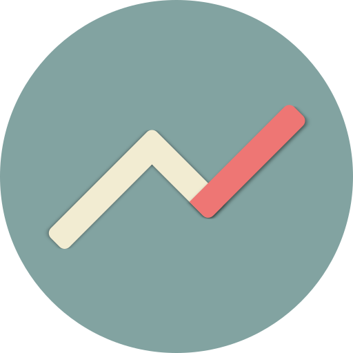 Linear, graph, diagram, money, presentation, economy, currency icon