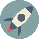 astronaut, astronomy, rocket, space, spaceship, start, universe icon