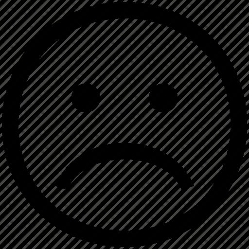 Face, frown, sad, sadface icon - Download on Iconfinder