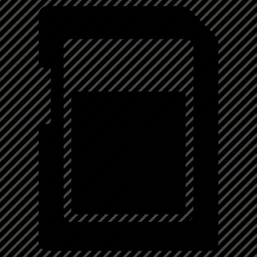 card, sd, sdcardfront icon