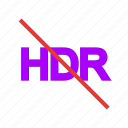 hdr, hdr off, hdr settings, high definition, photography icon