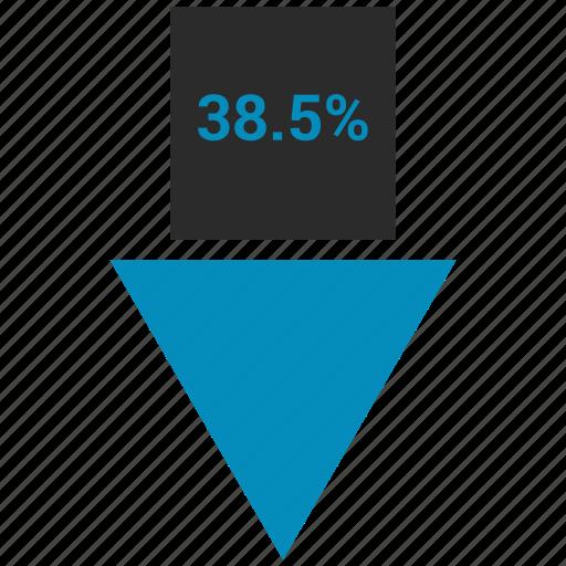 arrow, data, graphics, info icon