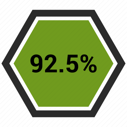 chart, count, ninty two, number, percentage icon