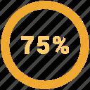 chart, data, graphic, info, quarter icon
