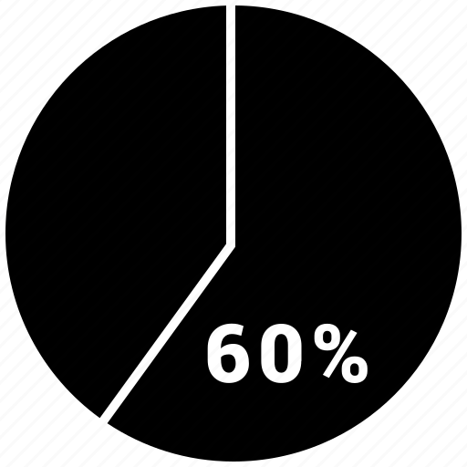 analytics, chart, graph, pie, pie chart, sixty icon