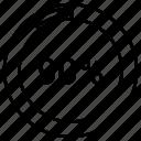 graph, ninty, pie, pie chart, pie graph, statistics icon