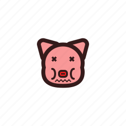 emotion, feel, pig icon