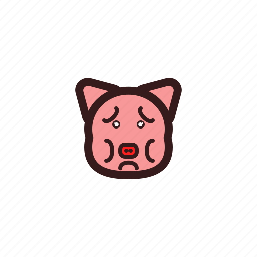 emotion, feel, pig icon