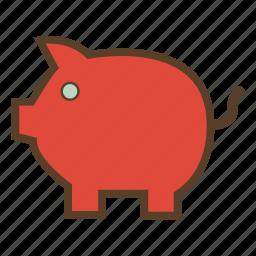 bank, economies, finance, money, piggy, piggy bank, savings icon