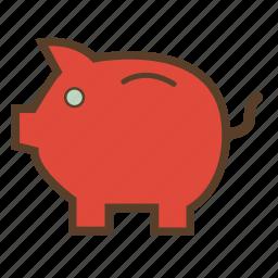bank, coin, economies, money, piggy, piggy bank, savings icon