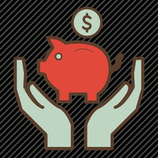 bank, dollar, economies, money, piggy, piggy bank, savings icon