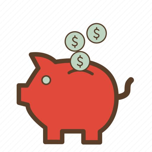 dollar, dollar sign, money, piggy, piggy bank, saving, savings icon