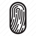 biometric, fingerprints, id, pass, passport, security, shield icon