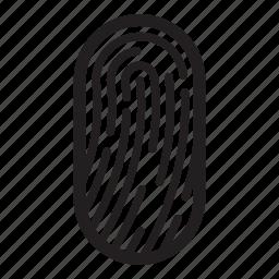 biometric, fingerprints, id, pass, passport, security, shield icon