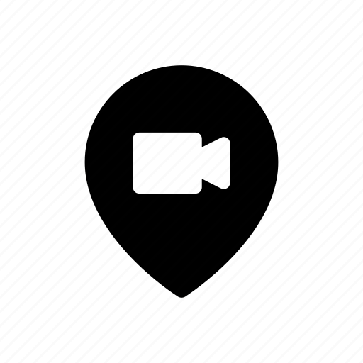 cinima, location, marker, movie, pin, theater, video icon