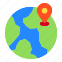 earth, location, locations, map, pin icon
