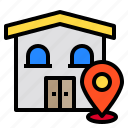 home, house, locations, map, pin icon