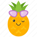 food, fruit, pineapple, summer, sunglasses, tropical, vacation icon
