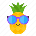 food, fruit, pineapple, summer, sunglasses, tropical, vacation