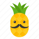 beard, food, fruit, pineapple, summer, tropical, vacation icon