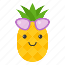 food, fruit, pineapple, summer, tropical, vacation icon