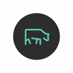 angus, beef, bull, cattle, cow, farming, meat icon