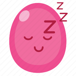 easter, egg, happy, pink, smiley, sticker icon