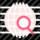 explore, globe, search icon