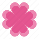 clover, flower, flowers, heart, love, romantic, valentine's, valentine's day icon