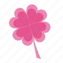 clover, floral, flower, flowers, heart, like, love, romantic, valentine, valentine's, valentine's day icon