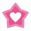 achievement, badge, favorites, heart, love, star, stars, valentine, valentine's day icon