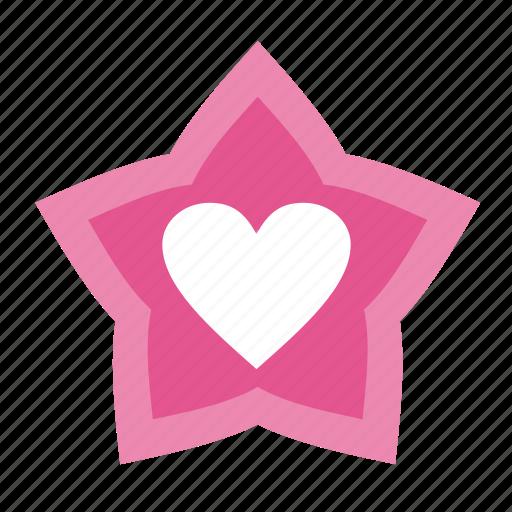 achievement, badge, favorites, heart, love, star, stars, valentine, valentine's day icon