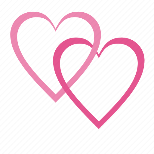 heart, love, romantic, two hearts, valentine, valentine's day, valentines, wedding icon