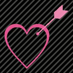 arrow, arrows, heart, love, romantic, valentine's day, wedding icon