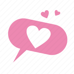 communication, dialog, heart, love, message, valentine, valentine's day, wedding icon