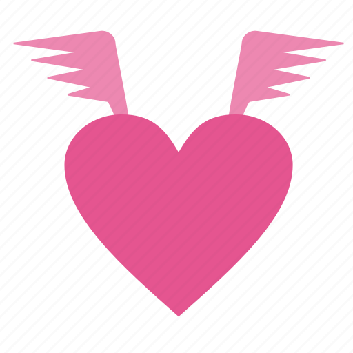 favorite, heart, like, love, romantic, valentine's day, valentines, wedding, wings icon