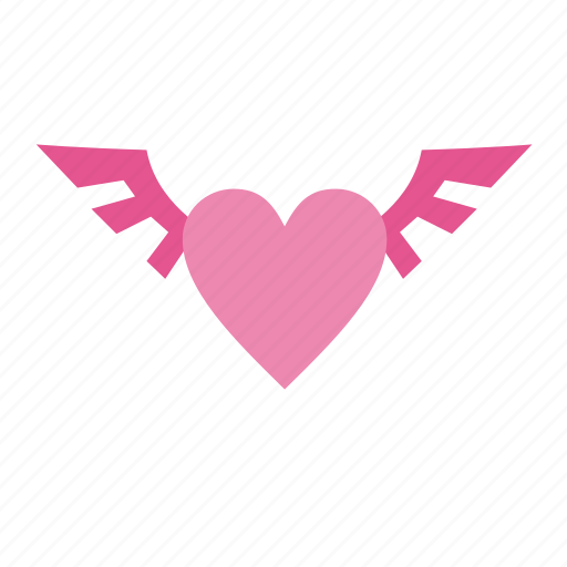 favorite, heart, love, romantic, valentine, valentine's, valentine's day, valentines, wedding, wings icon