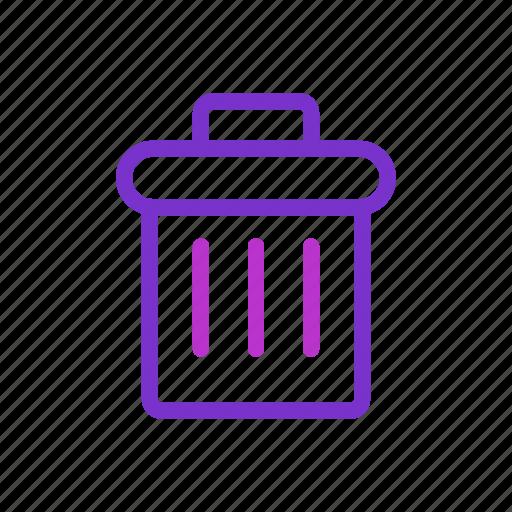 bin, delete, garbage, rubish icon