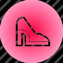 fashion, footwear, heel, shoes icon