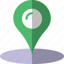 location, map, navigation, pin icon