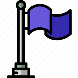 flag, location, map, navigation, pin icon