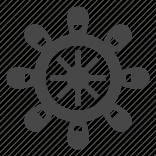 controller, ocean, pirate, ship, wheel icon