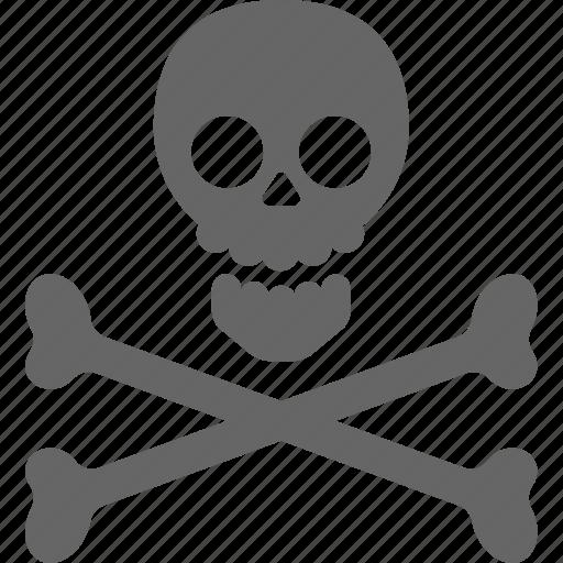 bone, pirate, skeleton, skull icon